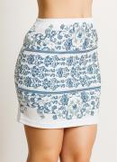 Mini Saia  Branca Estampa Azulejo