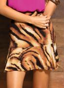 Saia Fit And Flare Animal Print