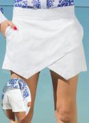 Short Saia Assim�trico  Branco