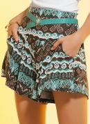 Short Saia  Estampa �tnica