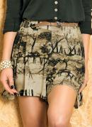 Short Saia  Estampa Natureza