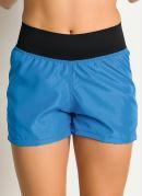 Short Feminino Fitness  Azul