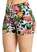 SHORT FEMININO COM (ESTAMPA TROPICAL)