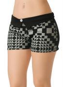 Shorts Preto com Estampa