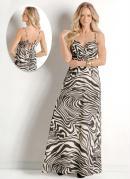 Vestido Longo de Al�a Zebra