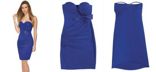 Vestido Drapeado Lunender Azul Klein