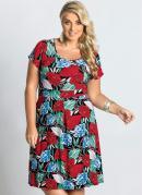 Vestido  Estampa Floral  Plus Size