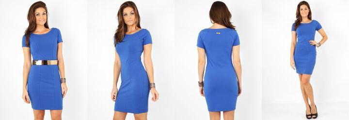 Vestido Feminino Azul Triton