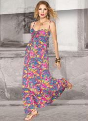 vestido floral com alça