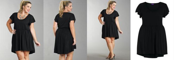 Vestido Mullet Plus Size Preto
