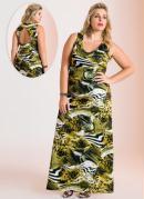Vestido Longo  Estampa Animal Print