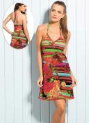 Vestido Frente �nica  Floral