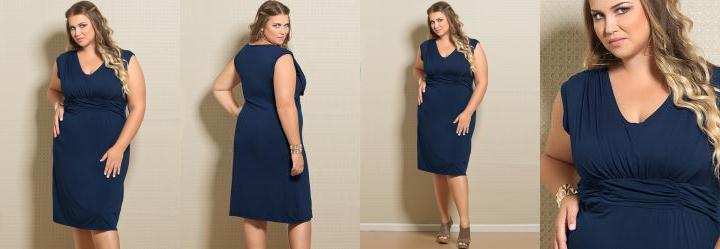 Vestido Plus Size Marinho