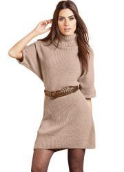 vestido de lã areia