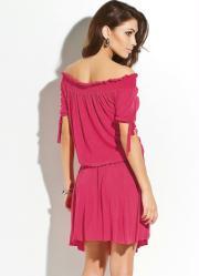 Vestido Pink Modelo Ciganinha