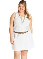 Vestido Branco sem Mangas