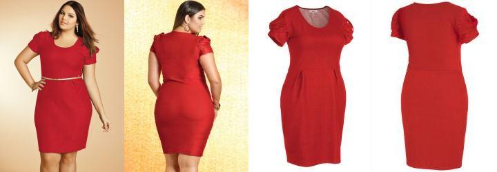 Vestido Vermelho com Detalhe de Laço