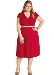Vestido Vermelho Decote em V