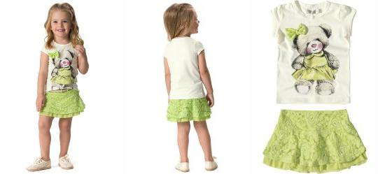 Conjunto Infantil Verde Carinhoso