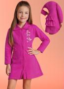 Vestido Manga Longa com Babados  Pink