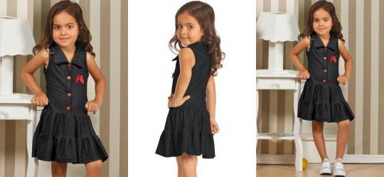Vestido Infantil Jeans