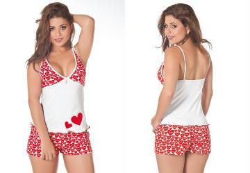 Pijama em Malha de Algodão