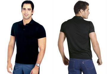 Camisa Masculina Manga Curta Preta