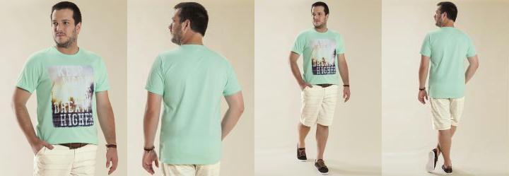 Camiseta Meia Malha Verde Wee!