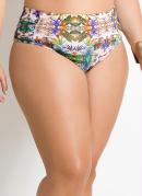 Biqu�ni Calcinha  Estampa Tropical  Plus Size